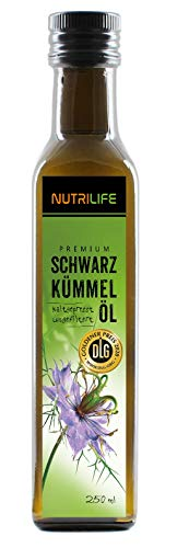 Nutrilife - Schwarzkümmelöl 250ml - 100% pur, ungefiltert, schonend...