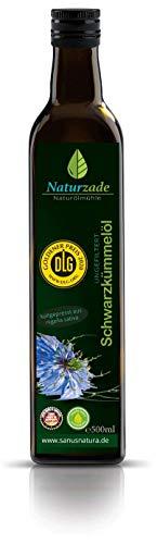 Naturzade Schwarzkümmelöl 500ml Ungefiltert Glasflasche,...