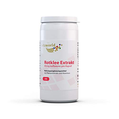 3er Pack Vita World Rotklee Extrakt 500mg + B Vitamine 270 Kapseln...