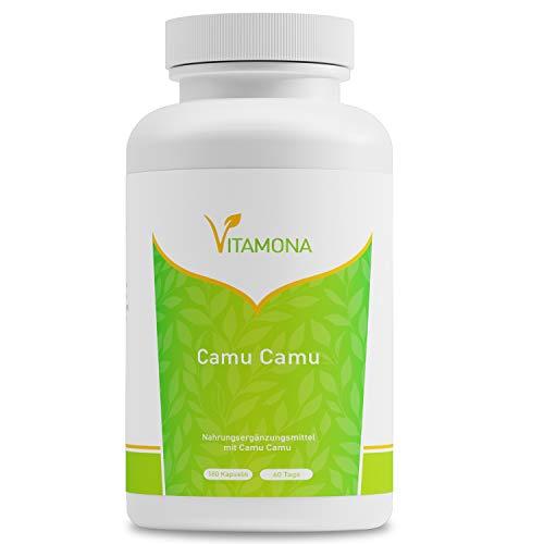 Camu Camu Beere Hochdosiert, Natürliches Vitamin C, 180 Kapseln Vegan...