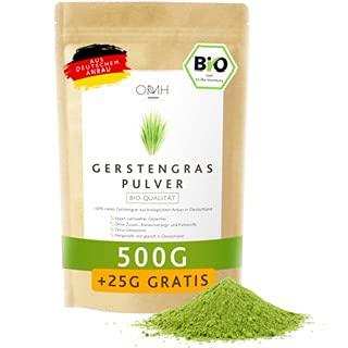 Gerstengras Pulver Bio 500g + 25g gratis I Deutsche Bioqualität aus...