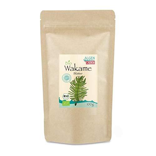 ALGENLADEN BIO Wakame Blätter - 100g | Undaria pinnatifida | Instant...