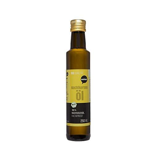 Wohltuer Bio Nachtkerzenöl 250ml - Nativ gepresst und 100% rein -...