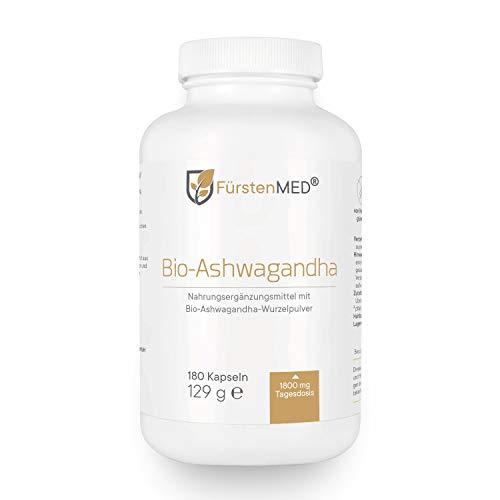 FürstenMED® Bio Ashwagandha Kapseln - Hochdosiert 1800 mg pro...