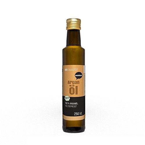 Wohltuer Bio Arganöl 250ml - Nativ gepresst und 100% rein - Natur pur...