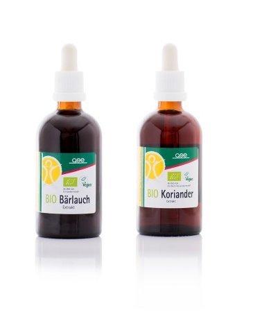 GSE - Bio Koriander und Bio Bärlauch Sparset (2 x 100 ml)