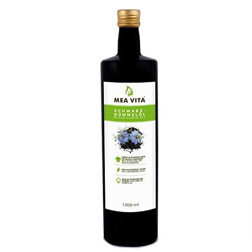 MeaVita Schwarzkümmelöl, kaltgepresst und 100 Prozent rein, 1000 g