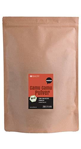 Wohltuer Bio Camu Camu Pulver 200g | Bio Fruchtpulver reich an Vitamin...
