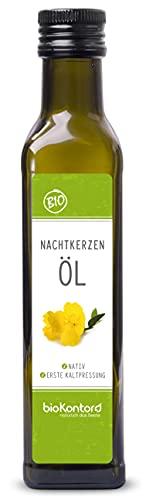 Bio Nachtkerzenöl 250ml nativ und kaltgepresst I 100% rein von...