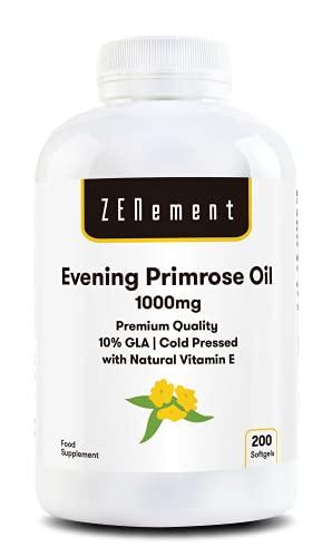 Nachtkerzenöl mit Vitamin E| 1000 mg x 200 Weichkapseln |...