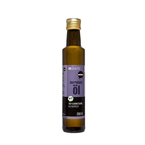 Wohltuer Bio Borretschöl 250ml - Nativ gepresst und 100% rein - Natur...