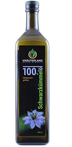 Kräuterland - Schwarzkümmelöl 1000ml - 100% rein, gefiltert,...