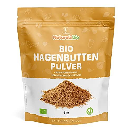 Hagebuttenpulver Bio 1kg. 100% Rohkostqualität, Natürlich und Rein...