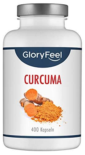 GloryFeel Curcuma/Kurkuma Kapseln - VERGLEICHSSIEGER 2019* - 400...