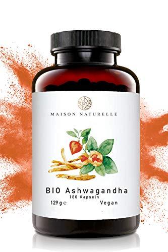 MAISON NATURELLE® Ashwagandha Bio Kapseln (180 Stück, 600mg pro...