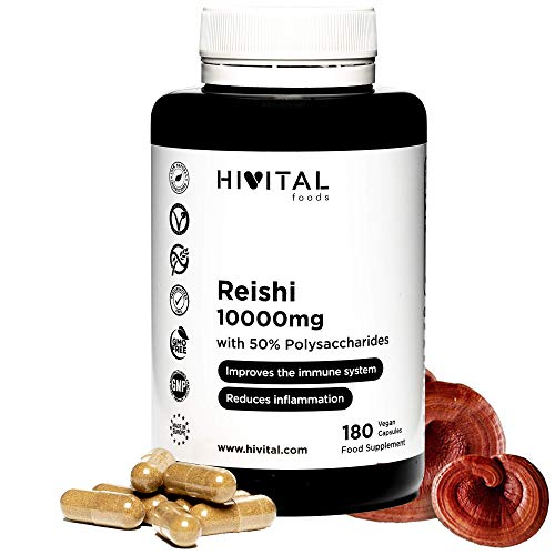 Reishi 10000 mg   180 vegane Kapseln für 6 Monate   Mit 50%...