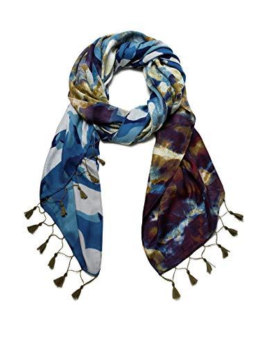 Desigual Womens Foul CAMU Fashion Scarf, Blue, U