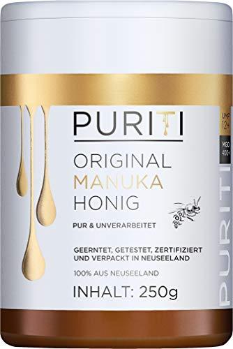 PURITI Manuka-Honig MGO 400+ 250g aus Neuseeland - zertifiziert,...
