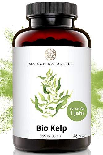 MAISON NATURELLE® - Bio Kelp Kapseln (365 Stück) - TESTSIEGER...
