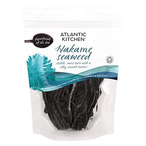 Atlantic Kitchen Wakame Getrocknete Algen. Bio Superfood des Meeres....