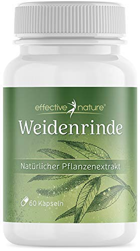 effective nature - Weidenrinde-Kapseln - 60 Kapseln - Natürlicher...