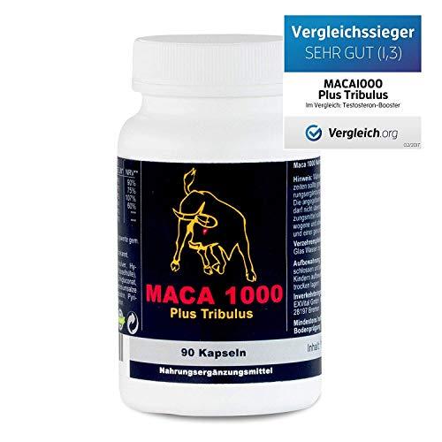 Maca 1000 plus Tribulus, Maca und Tribulus ideal kombiniert in einem...