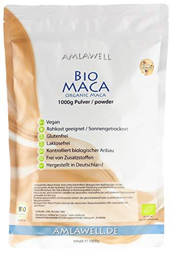 Amlawell Bio-Maca-Pulver aus Peru / 1kg in Deutschland abgepackt /...