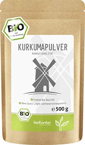 BIO Kurkuma Pulver gemahlen 500g | Kurkumapulver - Curcuma - Curcumin...