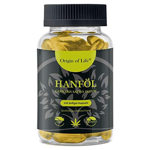 HANFÖL Kapseln - hochdosiert & kaltgepresst | Cannabis Sativa | echte...