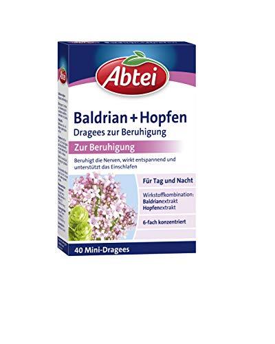 Abtei Baldrian + Hopfen Dragees zur Beruhigung, Nerven, Anspannung,...