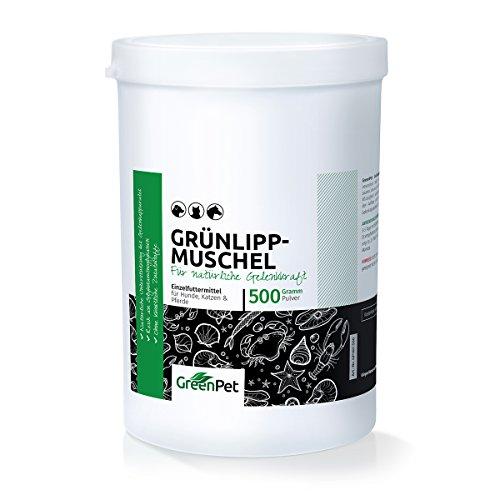GreenPet Grünlippmuschel-Pulver 500g - Naturprodukt für Hunde und...
