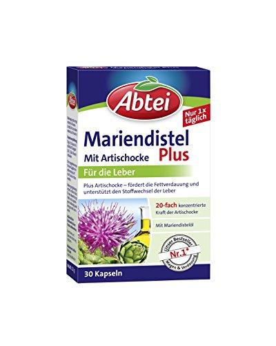Abtei Mariendistelöl Plus Artischocke mit Vitamin E Kapseln, gesunde...