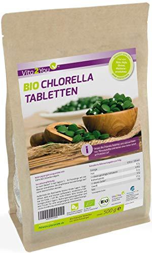 Bio Chlorella Tabletten 500g | 400mg pro Tablette | ca. 1250...