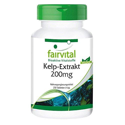 Kelp Tabletten - 300mcg natürliches Jod aus Braunalgen Extrakt 200mg...