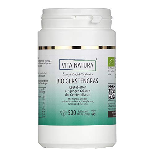 Vita Natura Gerstengras Tabletten à 400 mg Bio, 1er Pack (1 x 500...