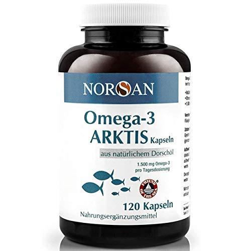 NORSAN Premium Omega 3 Kapseln hochdosiert - 120 Arktis Kapseln, 1.500...
