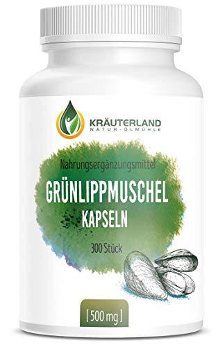 Kräuterland - Grünlippmuschel Kapseln - 300 Stück je 500mg -...