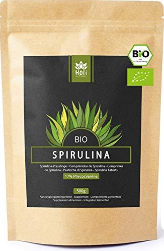 Holi Natural® BIO Spirulina Tabletten. 500mg pro Pressling. 1000...