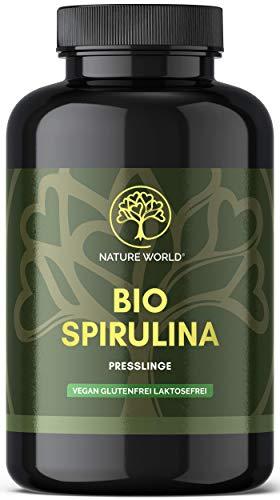 NATURE WORLD Bio Spirulina Alge - Laborgeprüft und hochdosiert - 600...