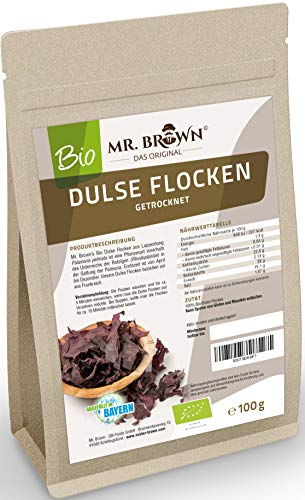 Mr. Brown Bio Dulse Flocken getrocknet 100g | Algen | Lappentang |...