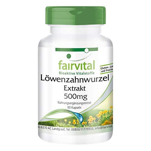 Löwenzahn Kapseln - 500mg Löwenzahnwurzel-Extrakt pro Kapsel -...