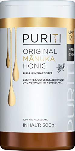 PURITI Manuka-Honig MGO 400+ 500g aus Neuseeland - zertifiziert,...