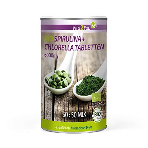 Bio Chlorella + Spirulina Tabletten - 500 Tabletten - Aus...