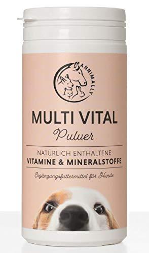 Annimally Vitamine für Hunde I Multivitamin Komplex Pulver für Hunde...
