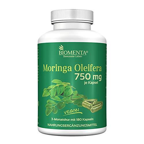 BIOMENTA Moringa Oleifera – Moringa hochdosiert mit 750 mg je Kapsel...