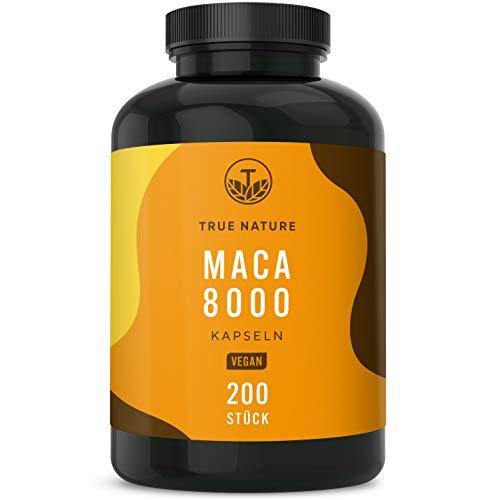 TRUE NATURE® Maca 8000 Kapseln Hochdosiert - Einführungspreis - 200...