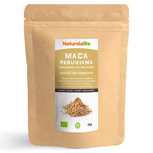 Maca Pulver Bio [ Gelatiniert ] 1kg. Natürlich und Rein, hergestellt...
