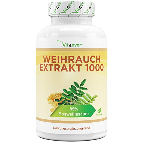 Weihrauch Extrakt - 365 Kapseln - Premium: 85% Boswellia-Säure -...