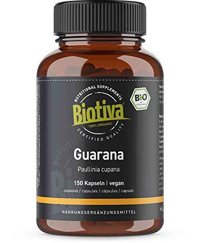 Guarana Kapseln Bio - 150 x 500mg - koffeinhaltig - natürlich -...