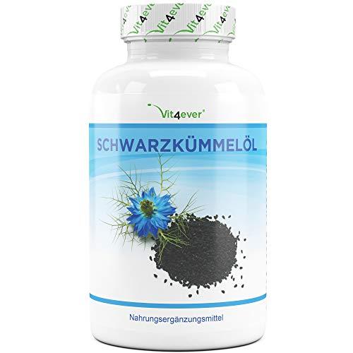 Schwarzkümmelöl - 420 Kapseln - 1000 mg pro Tagesportion - Premium:...